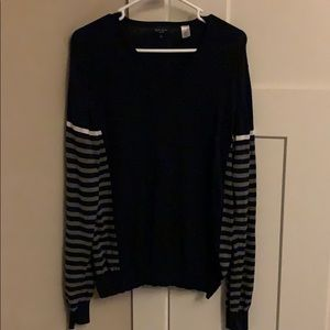 Paul smith Jeans navy/gray striped v-neck sweater